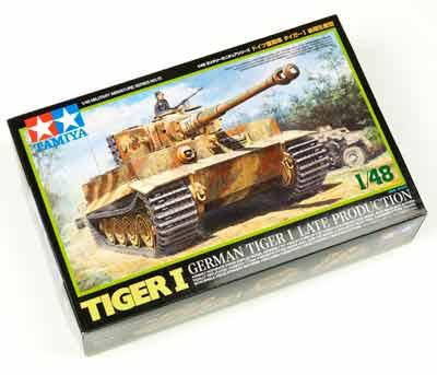 タミヤ 1/48 ミリタリーミニチュアシリーズ No.75 ドイツ陸軍 重戦車 タイガー I 後期生産型の商品画像