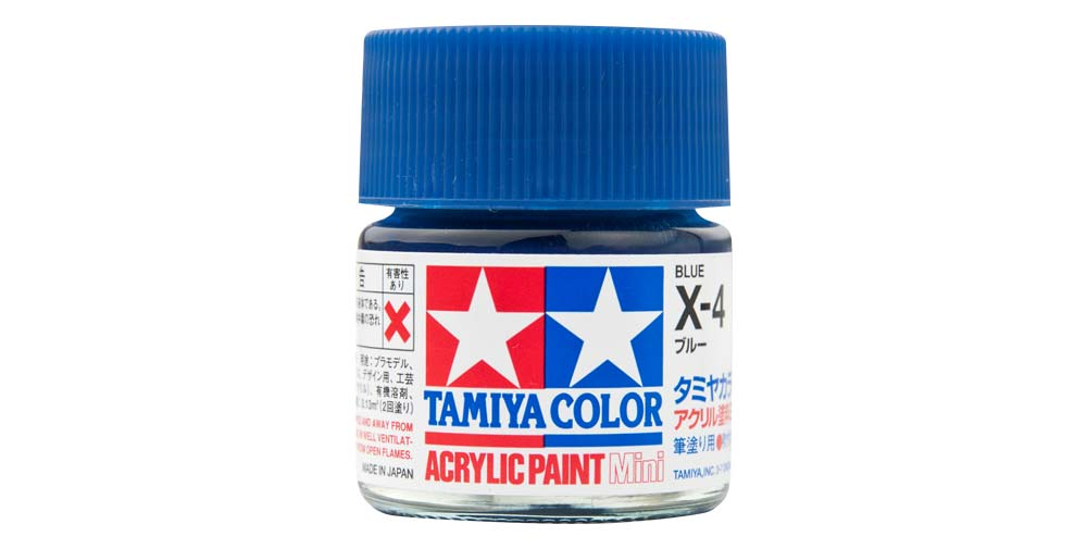 タミヤカラー アクリル塗料のパッケージ