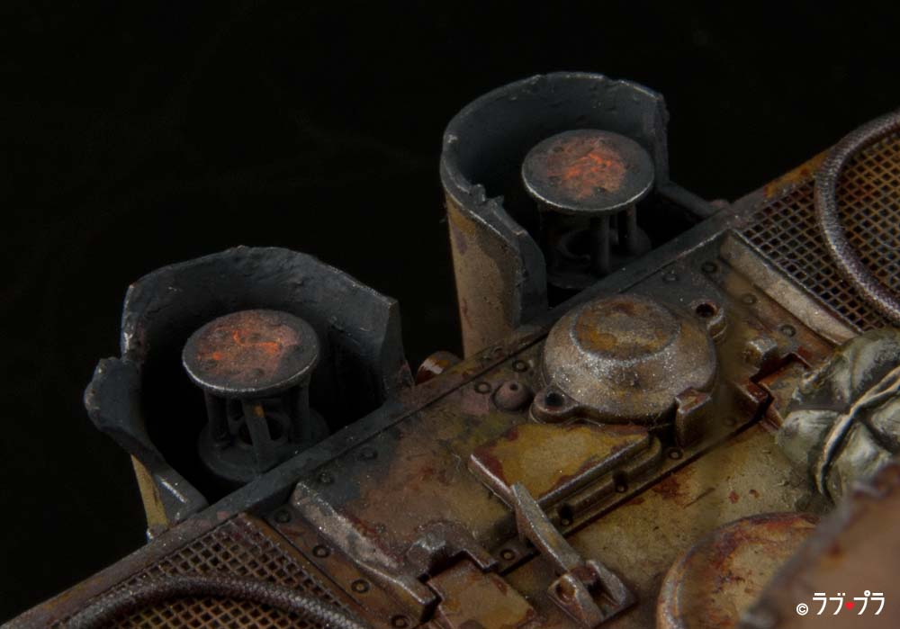 タイガーI後期-完成作品-マフラーの排煙口