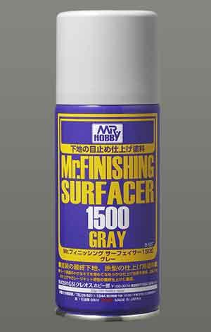 Mrフィニッシングサーフェイサー1500スプレータイプのパッケージ