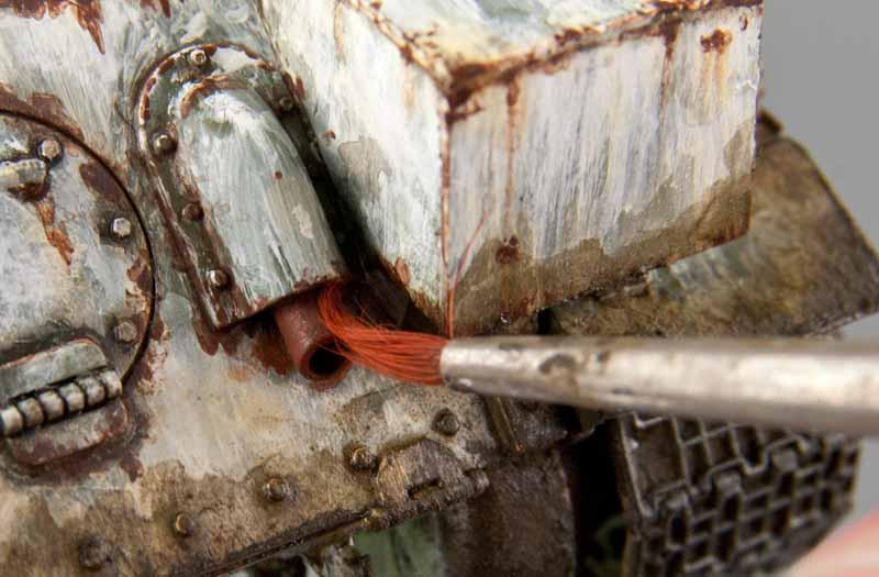 赤サビ塗料の塗布