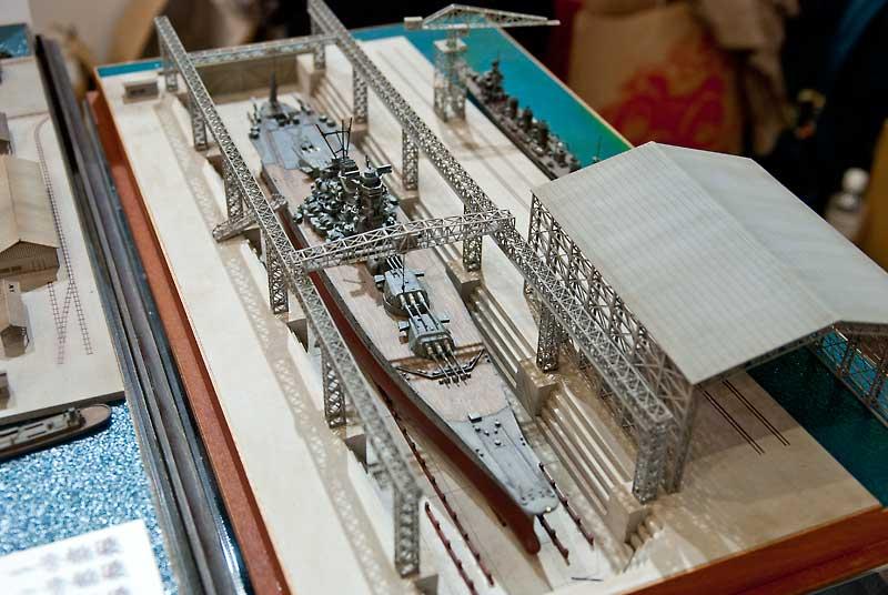 紙創り-小型船台(ガントリークレーン付)