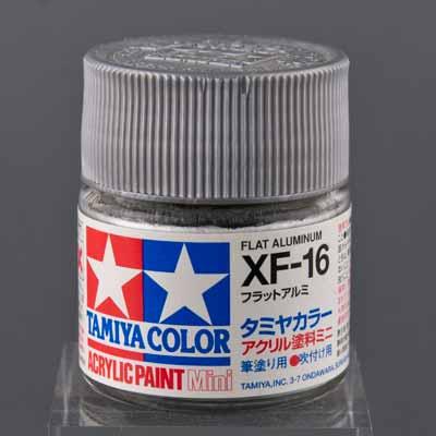 タミヤ 水性アクリル塗料 フラットアルミ(XF-16)