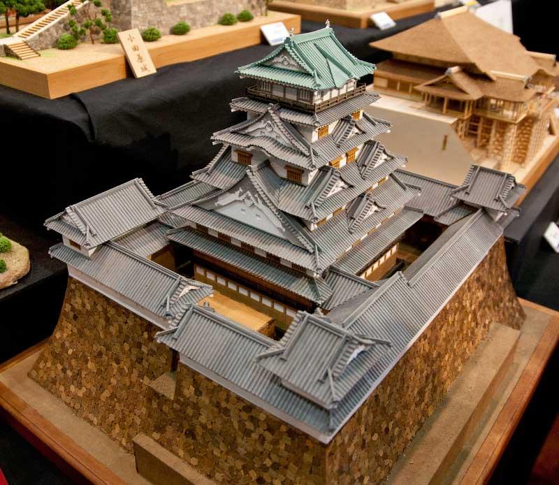 駿府城の木製模型