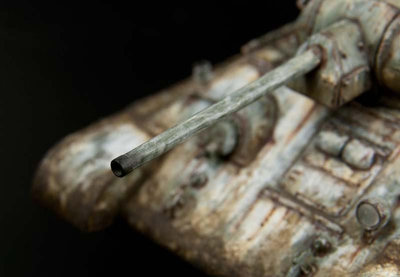 砲身先端の煤汚れ
