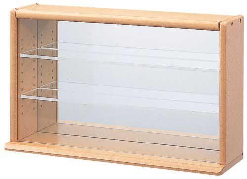 ナカバヤシ コレクションケース ミニ ワイド 透明アクリル棚板タイプ ライトブラウン W420xD120xH255mm CCM-002-LS ディスプレイケース