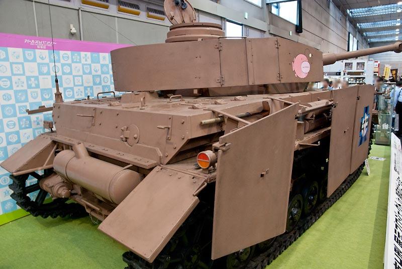 実物大IV号戦車 ガルパン仕様 後方からの写真