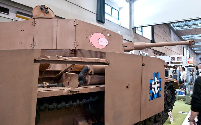 実物大IV号戦車 ガルパン仕様 側面の写真